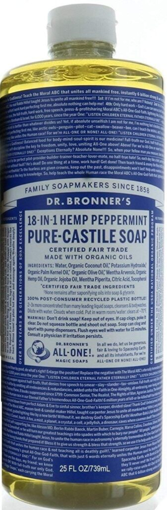 Dr. Bronner Hemp Peppermint Pure Castile Oil Made With Organic Oils