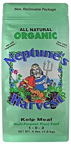 Neptune's Harvest Kelp Meal Multi-Purpose Plant Food can be utilized.