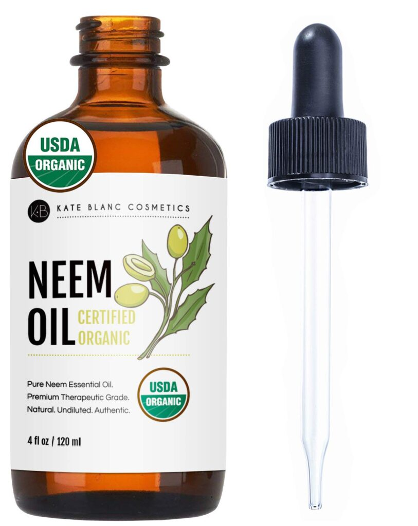 Neem Oil by Kate Blanc. USDA Certified Organic, Virgin, Cold Pressed, 100% Pure