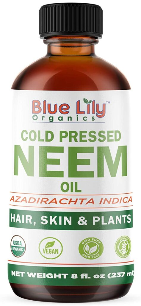 Organic Neem Oil (8 oz), USDA Certified, Cold-Pressed, Unrefined, 100% Pure